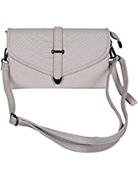 Heartly Women's Stylish Snake Skin Pattern With Belt Design Fashion Cross Body Shoulder Sling Bag - Color