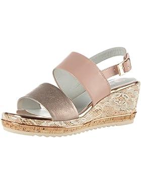 Be Natural Damen 28302 Offene Sandalen mit Keilabsatz