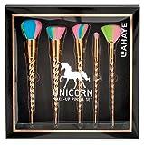 LAHAYE - Unicorn Make-up Pinsel Set, 5 Pinsel für das perfekte Make-up, Einhorn Style