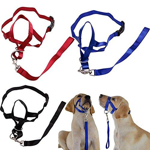 LA VIE Hunde Maulschlaufe Anti Beißen Bellen Fressen Beisskorb Weich und komfortabel Maulkorb Verstellbar Langlebig Maulkorb für Meistens Hunde XL Blau