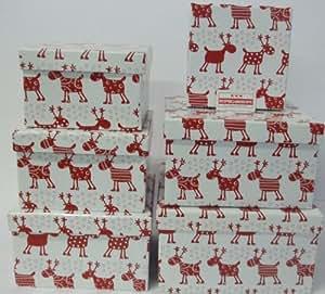 geschenkkarton geschenkbox weihnachten rentier lustig 6. Black Bedroom Furniture Sets. Home Design Ideas