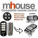 Bricolaje y herramientas Alta calidad. Ferretería MHOUSE TX4Compatible Mando a distancia transmisor 433,92mhz distancia de repuesto para