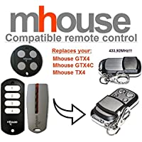 MHOUSE GTX4, GTX4C, TX4 universal transmisor de repuesto mando a distancia, 433.92Mhz rolling code keyfob