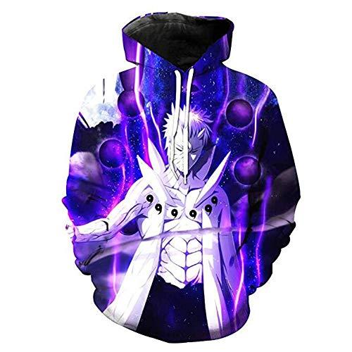 Kostüm Cosplay Kakashi - Zcbm Kapuzenpullover 3D Print Hoodie Nagato Uzumaki Naruto Uchiha Sasuke Hatake Kakashi Kapuzen Sweatshirt Tunnelzug Cosplay Kostüm Sportswear,A,XL