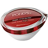 POND'S Age Miracle Wrinkle Corrector (Anti-Wrinkle) Anti Aging Night Cream, With Retinol-C Complex, 50 g