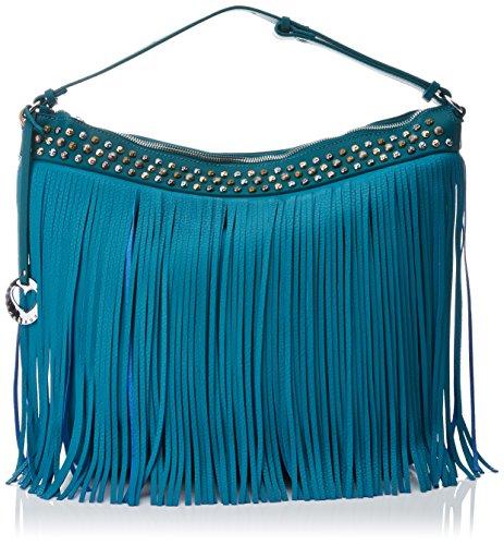 Lola Casademunt BL5319, Borsa con Frange Donna, Blu (Blue)