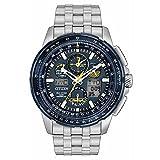 Citizen Herren blau Engel Skyhawk jy8058–50L Schwarz/Silber Edelstahl automatische Kleid Armbanduhr