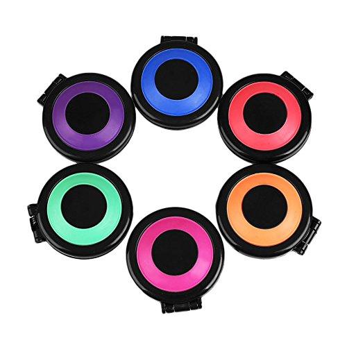 MSmask Professionelle 6 Farben Temporäre Haarkreide Set DIY Haarstyling Haarfärbemittelpulver