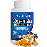 Curcuma (curcumine) enrichi en poivre noir contre l'arthrose-60 capsules végétales - 1 mois