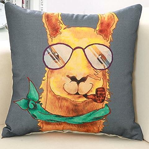 Yifom Abbraccio federa del cuscino del nucleo il divano Office NAP cuscino lombare posteriore auto (Deer Coperta Del Tiro)