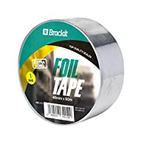 Brackit 48mm x 60m Extra Long Aluminium Foil Tape | Conductive, High Temp Heat-Resistant Foiled Tape Rolls for HVAC Repair, Ducts, Insulation, Dryers, Jewellery Making & Craft