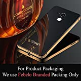 Febelo Branded Luxury Glass Back Aluminium Side Panel Battery Injection Case Cover for Coolpad Note 3 - Black & Gold