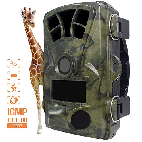 Digitale Nachlaufkamera,IP56 Wasserdicht 14MP 1080P Wildlife Trail-Kamera mit 120° Weitwinkel-Jagdkamera 0.3s Auslöser Geschwindigkeit Nachtversion Spielkamera für Wildlife Monitoring&Home Security