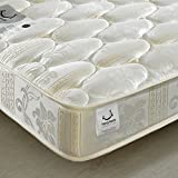 Quilted Open Coil Spring, Happy Beds Star Medium Soft Tension Mattress - 3ft Single (90 x 190 cm)