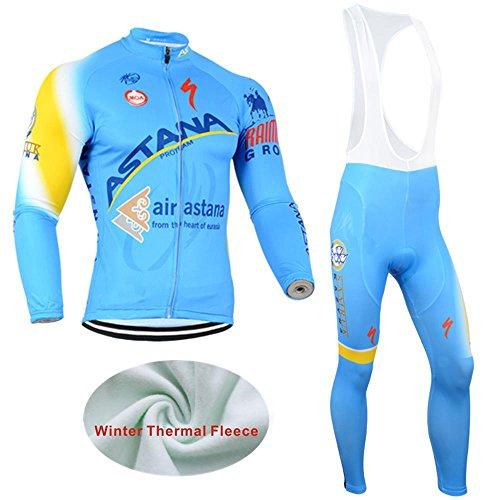 logas Neue Art und Weise Männer Langarmshirt Winter-Fahrrad Jersey Thermal Fleece Radtrikot Bib Pants Bike Sports Wear Anzüge Sets