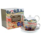 Lesser & Pavey Claude Monet Poppy Field Tea for One, Mehrfarbig