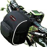 Hi8Store Radfahren Wasserdicht Fahrrad vorne Korb Tasche mit regensicheren Deckel Lenker Bike Tasche schwarz