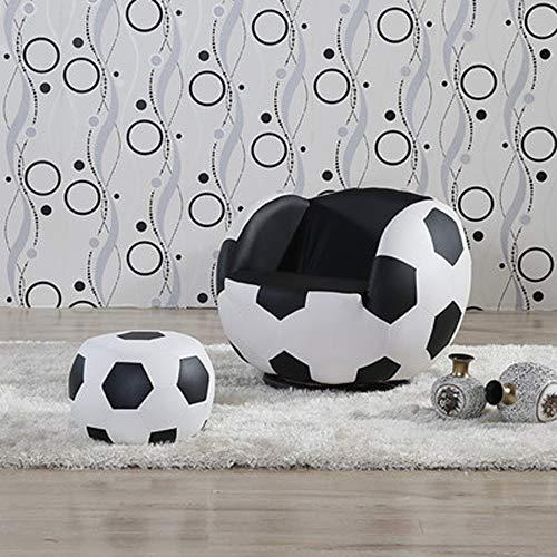 WJQSD Fußhocker Lazy Couch Kinder Fußball Stuhl Sessel Sofa Und Hocker Sport Theme Hocker Lagerung, Schlafzimmer (Color : B2) (Und Hocker Fußball-sessel)