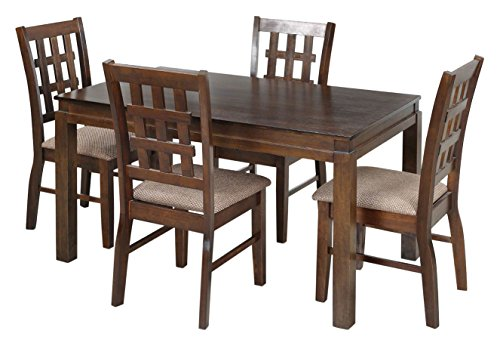Royaloak Daisy Four Seater Dining Table Set (Walnut)