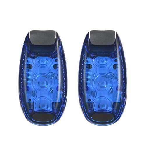 Preisvergleich Produktbild FishingSir LED-Sicherheitsleuchte (2er Packung) + 4 Boni Akku mitgeliefert Clip-On Strobe-Laufleuchten mit Armband für Läufer, Fahrrad, Fahrrad, Hunde, Walking, Jogging, Fahrradzubehör für Reflektierendes Getriebe
