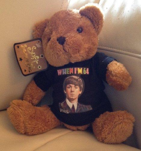 PAUL McCARTNEY When I m 64 TEDDY BEAR  black t shirt