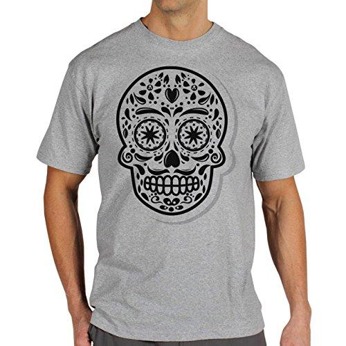 Skull Four Herren T-Shirt Grau