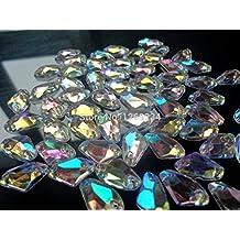Galactic forma AB Color 150pcs 9* 14mm para coser en acrílico Crystal Rhinestone Flatback para coser a mano piedra loose Beads