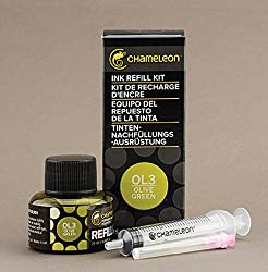 Chameleon Ink Refill 25ml Olive Green - OL3