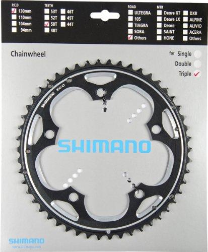 SHIMANO KETTENBLATT 50 ZAEHNE SCHWARZ FC-R563 KETTENBLAETTER ROAD FC-R553 ART-NR. Y-1MU98040
