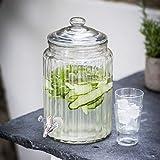 CKB Ltd® Retro Traditionelle Getränkespender Cocktail Juice Water Drinks Dispenser 5.8L - Saft Wasser Getränke Spender Ideal für Haus Küche Garten Party Getränkeservice - Glasbehälter mit Deckel