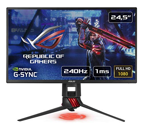 ASUS XG258Q 24.5' Full HD TN Negro, Rojo Pantalla para PC - Monitor (62,2 cm (24.5'), 1920 x 1080 Pixeles, LED, 1 ms, 400 CD/m², Negro, Rojo)