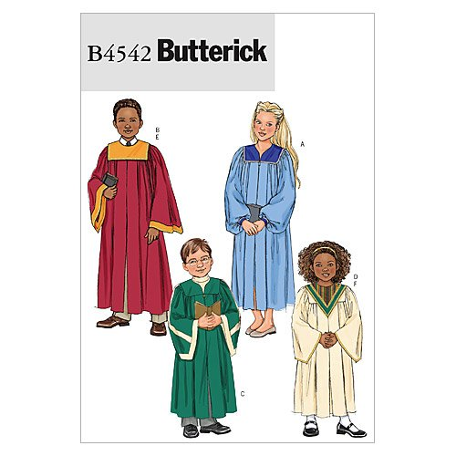 Children's / Boys' / Girls' Robe and Collar - CX (XSM - SML) Pattern