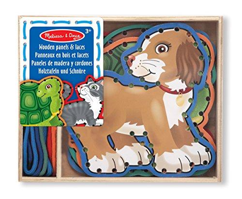 Imagen principal de Melissa & Doug 13782-5 paneles de madera y 5 cordones concordantes - mascotas