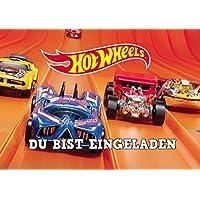 LL Hot Wheels Einladungskarten 12er Set Inkl. 12 Umschläge Motiv 2