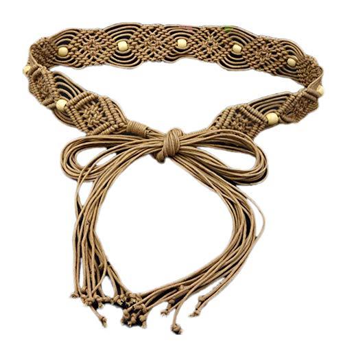 Angoter De Las Mujeres Cuerda Trenzada Cinturón De Cintura Estilo Boh