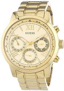 Guess W0330L1 - Reloj de cuarzo para mujer, con correa de acero inoxidable, color dorado de GUESS