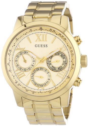 Guess Women's Quartz Watch Chronograph Display and Stainless Steel Strap W0330L1