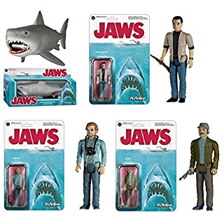 Funko Jaws Matt Hooper, Martin Brody, Quint and Great White ReAction Retro Action Figure by Jaws