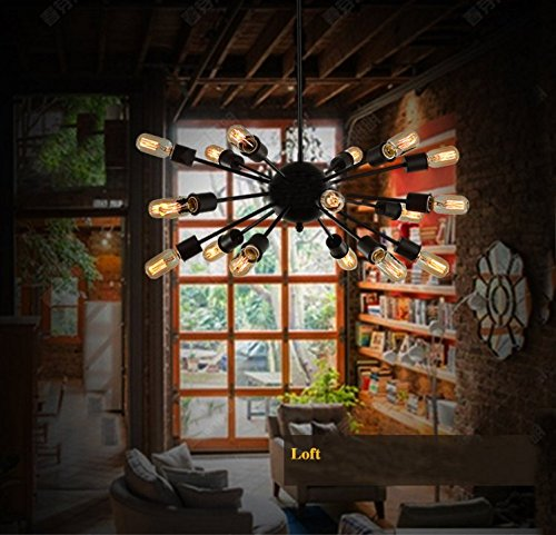 Image of Wenseny Man-Made Satellite Retro Wrought Iron Chandelier ( Not Include The Light Source ) 18 Lamp Holders