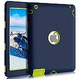 BENTOBEN iPad 2 Hülle iPad 3 Hülle iPad 4 Hülle, iPad 2 3 4 Schutzhülle stoßfest Hybrid PC Silikon Cover robust Tas