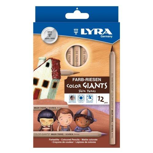 Buntstifte Lyra Farbriesen Skin Tones Hautfarben, 12er Sortiment - Farbstifte