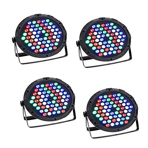 Discolicht, XGZ Par Lichter led 100w Scheinwerfer Bunte 7 Beleuchtung Modi Bühnenbeleuchtung Flexible Fernbedienung DMX Steuerung Disko Licht für DJ KTV Geburtstag (100w LED, 4 PCS) -