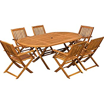 Wooden Garden Dining Table And Chairs Furniture Set Boston Fsc