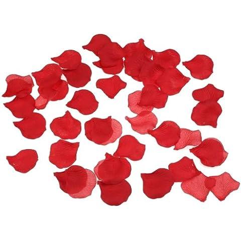 Liroyal - Petali di rosa a forma di cuore rosso