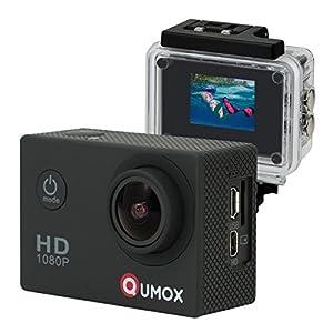 QUMOX Actioncam SJ4000, Action Sport Kamera Camera Waterproof, Full HD, 1080p Video, Helmkamera, Schwarz