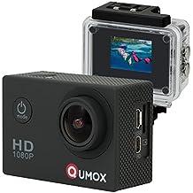 QUMOX SJ4000 - Cámara de Deporte para casco Impermeable, Video de Alta definición 1080p 720p, Color Negra