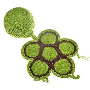 NO BRAND Disfraz de Accesorios de fotografía para recién na Baby Costume Prop Baby Photo Prop Outfit Ropa Tejido Crochet… 14