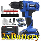 Cordless Drill Driver & Electric Combi Drill Kit 2 x 1500 mAh 21V