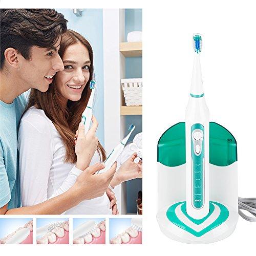 Sonico Spazzolino Elettrico Ricaricabile Impermeabile Orale Igiene con UV Sanitiser