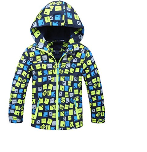 Koo-T Boys Raincoat Fleece Lined Jacket Hood Wind Breaker Lightweight Age 3 4 5 6 7 8 9 10 11 Blue